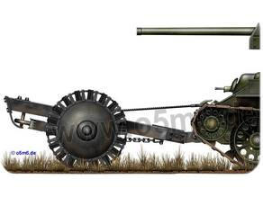 PT-34 mine roller for Russian's tank - 1/50ème