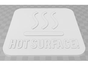 Hot Surface Signage
