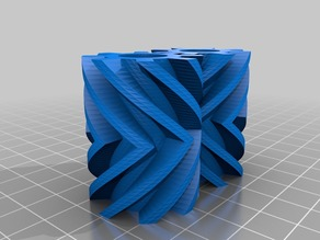 My Customized Fully  Twisted Gears (Parametric)