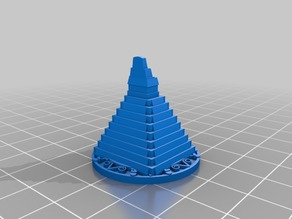 T'Zolkin Boardgame Pyramid Gear Markers