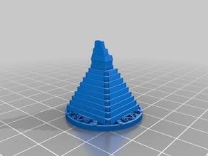 T'Zolkin Boardgame Pyramid Gear Markers