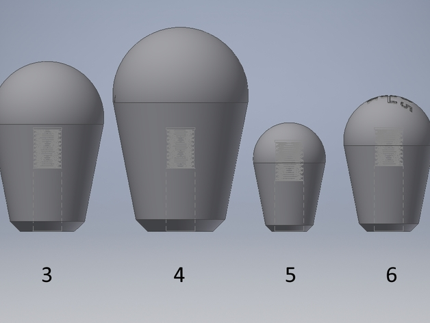Gear knobs for CAE Ultra Shifters - 8 Versions by zockerbender
