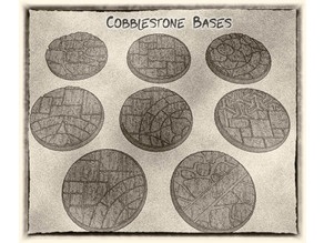 32mm Cobblestone Bases (x8) - for Dungeons & Dragons, Pathfinder, Warhammer and more games.