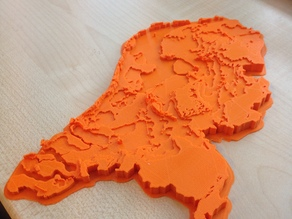 Netherlands Topographic 3D Map MakerEdChallenge 20 by Barleon