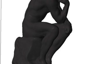 Rodin's The Thinker on Lego-compatible