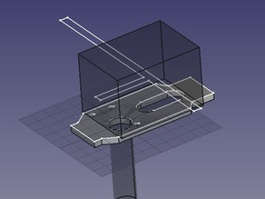 Quick-fit mount plate for PrintrBot extruder
