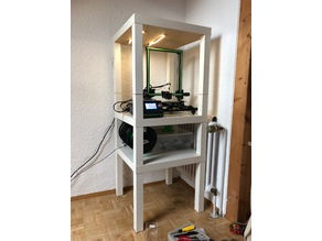 invisible IKEA LACK connection - Printer enclosure