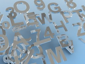 Letters, Numbers & Symbols OH MY!  (100mm tall Arial Bold by 10mm Thick)