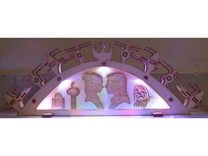laser cut LED flying butress starwars theme