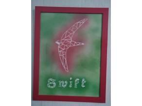 Origami/pochoir martinet- origami/stencil  Swift