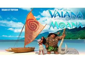 Vaiana/Moana boat Canoe