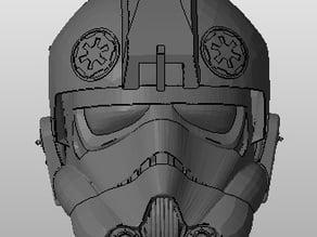 Tie Pilot Helmet, Low poly
