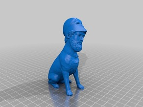 Labricles - Pericles Bust + Labrador Sculpture mashup