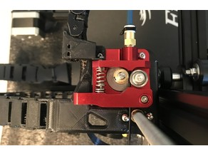 Extruder Bracket for Cable Chain Reinforced - Ender 3