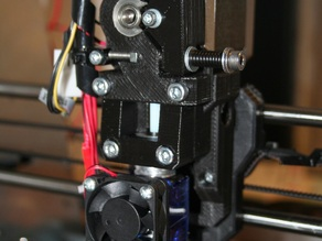 prusa i3 direct drive extruder for e3d hotend and mk8 drive gear