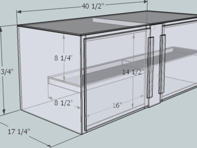 X Glass Shelf