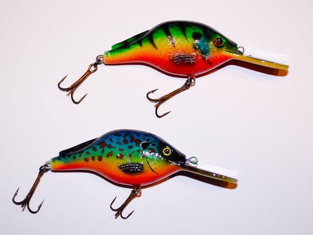 Crankbait Fishing Lure by sthone - Thingiverse