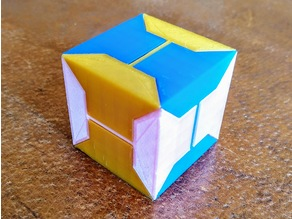 The Expanding Box puzzle (6 identical -easy to print- pieces)