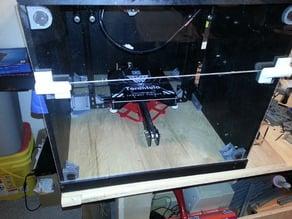 Tevo Tarantula enclosure - frame brace - z motor plate support.