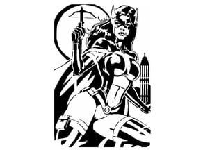 Huntress stencil