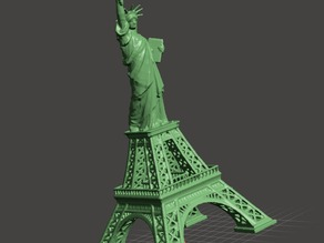 Eiffel tower vs. Statue of Liberty
