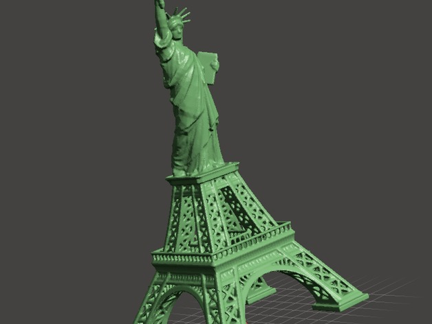 eiffel tower vs statue of liberty by hjorthmobile thingiverse
