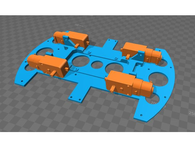 Arduino Robot Car Chassis 4wd By Sb43201 Thingiverse