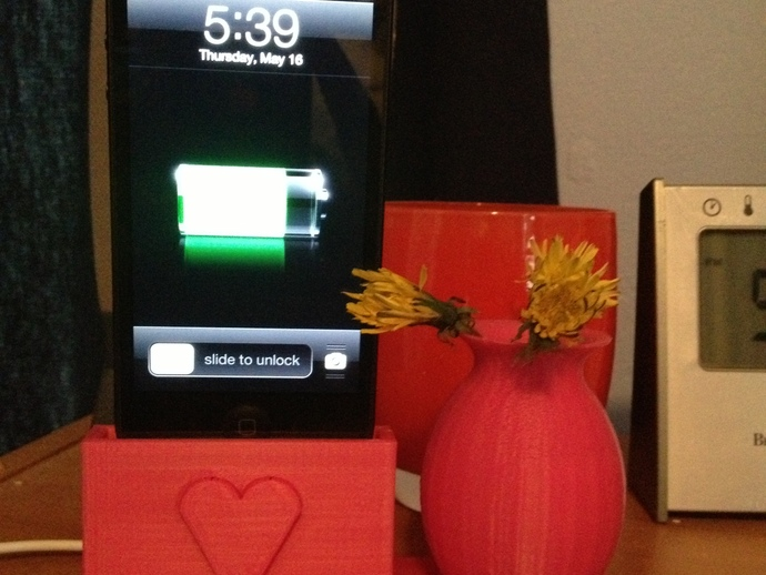 Iphone 5 Stand Charging Dock With Flower Vase By Mliffmann