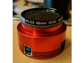 Astrophotography adapter: T2 (m42 thread) to 2inches (50.8mm) with 48mm filter thread and DSLR support
