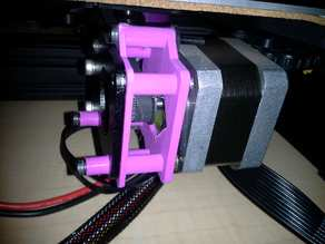 Damper mounts for Ender 3 X and y axis using stock press-fit stepper motors