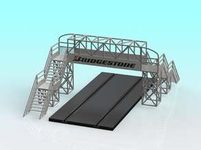 1:32 Slot car Footbridge