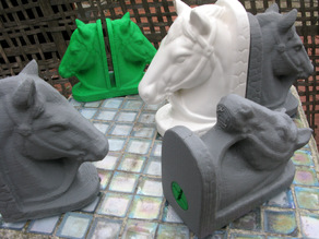 Horse Head Bookend and Letter Holder