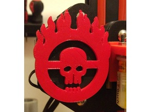 Creality Ender 3 - Mad Max logo X axis mount