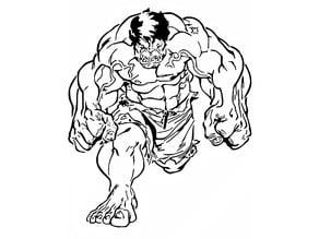 Hulk stencil 3