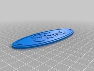 Ford logo keychain