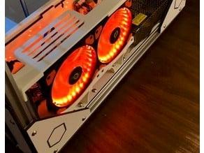 Dual 120mm cooling fan standoff (plus Folgertech FT-6 specific foot)