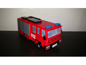 Firetruck savings box