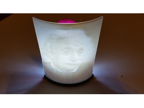 Lithophane and stand