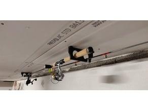 Ceiling fishing rod rack