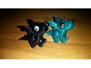 Baby Dragon with Custom Eyes