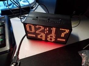 2x4 Led matrix clock Case