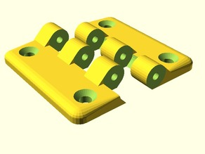 Hinges for Acrylic Doors for Makerbot Replcator 2 / 2X, Flashforge Creator Metal, and similar style 3D printers