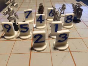 Dualstrusion Numbered Pawns for roleplaying games