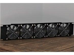 2U Rack Mount for 5x 80mm Fans