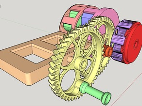 Hand crancked ,Double waveLength , Flywheel enhanced(!) , printable  Siren
