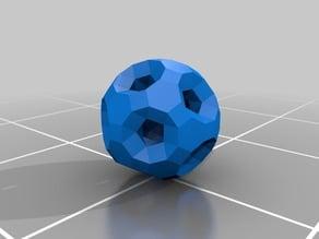 RhombiTruncatedIcosiDodecahedron with Tunnels