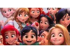 Lithophane Ralph 2.0 Wreck-It Ralph 2( Princesse)