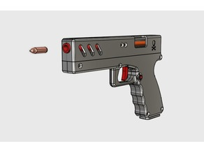 Handgun with magazine and bullets (Fully functional TOY!!!)