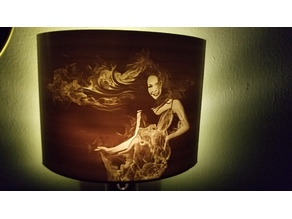 Night Light Lithophane - Fire Girl