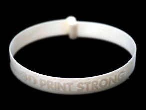 3D PRINT STRONG locking bracelet